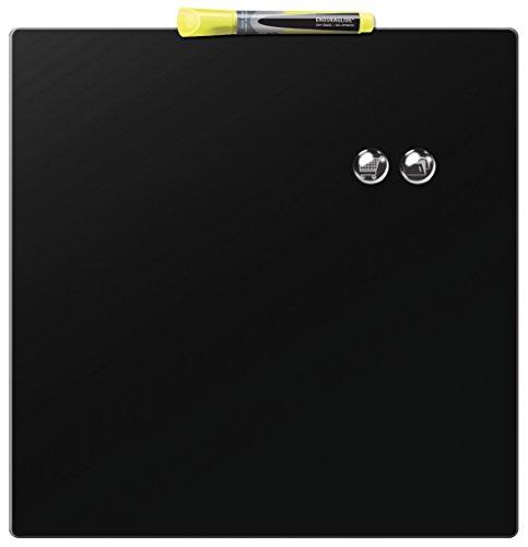 Rexel Pizarra magnética individual, 360x360m, Diseño cuadrado, Negro, 1903774