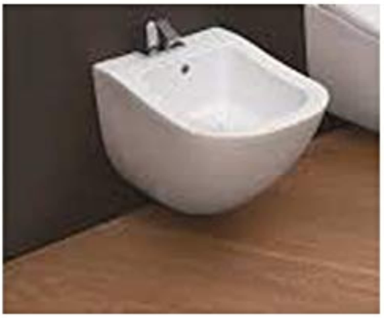 Cielo Fluid single hole wall bidet FLBS-Polished Weiß
