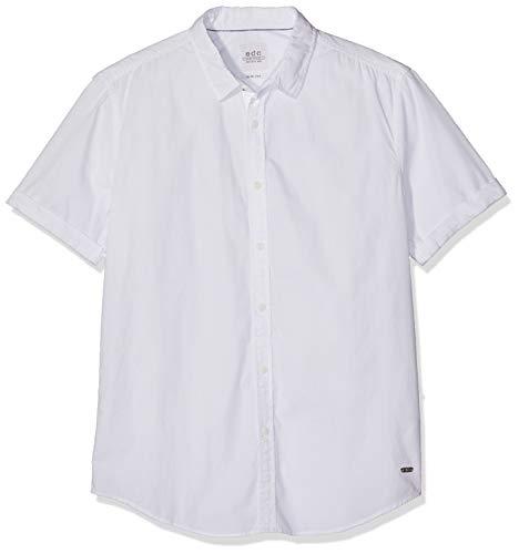edc by ESPRIT Herren 039CC2F001 Freizeithemd, Weiß (White 100), Large (Herstellergröße: L)