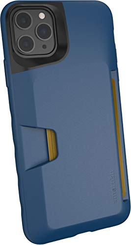 Smartish iPhone 11 Pro Max Wallet Case - Wallet Slayer Vol. 1 [Slim + Protective] Credit Card Holder (Silk) - Blues on the Green