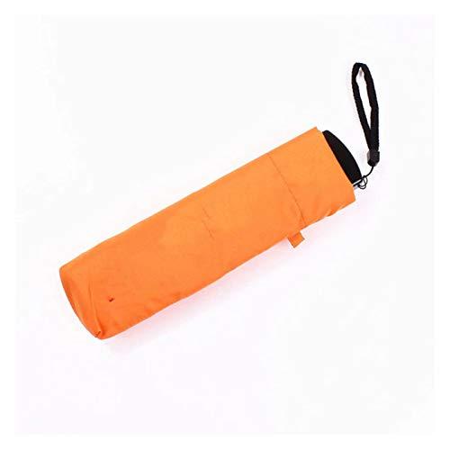 XHJLNNY XINHEJULN Paraguas lápiz de 4 Colores, Bolsillo pequeño, Plegable, Paraguas Ligero Ultra Delgado, sombrilla de Engranajes Exquisito y aplicable (Color : Orange)
