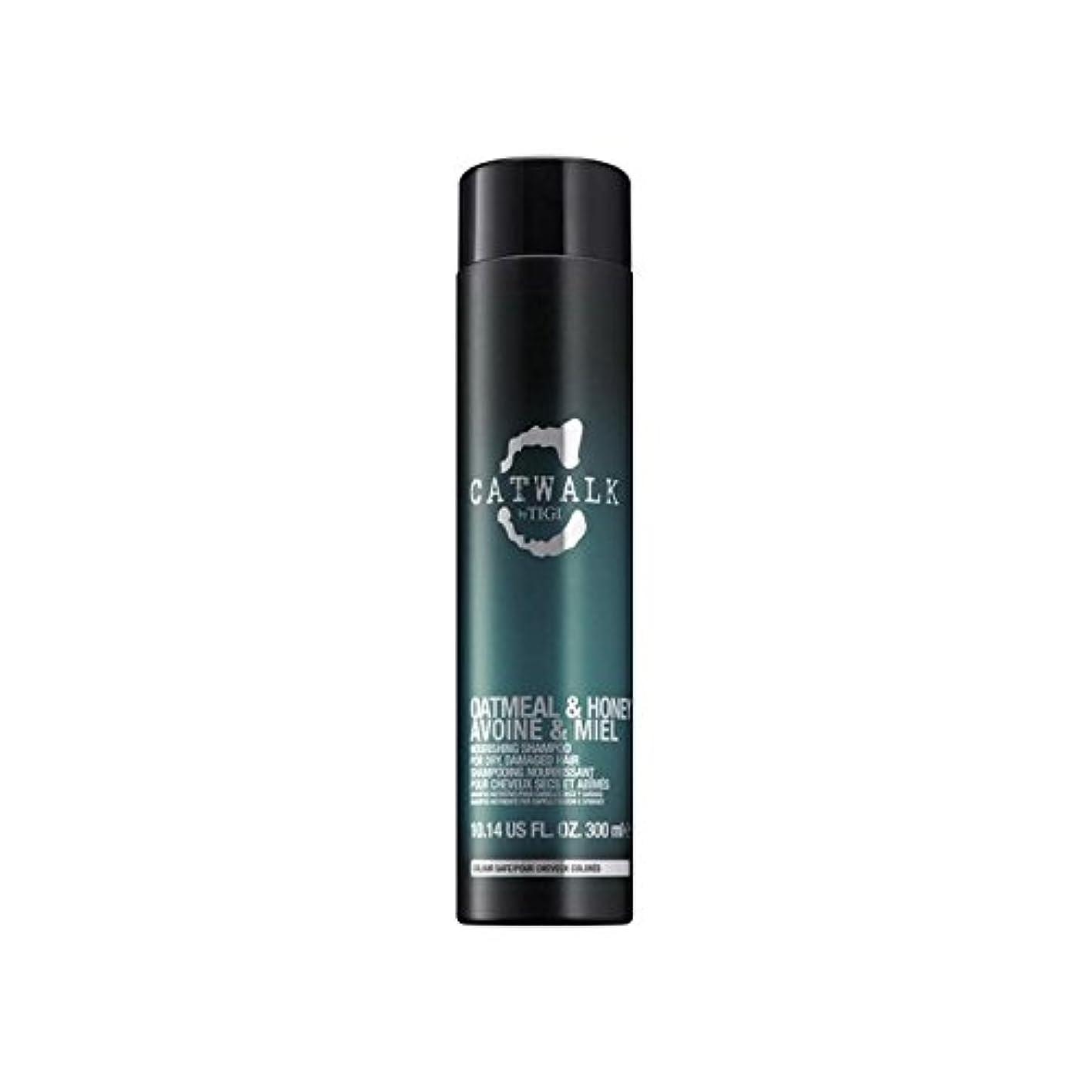 深める妨げるデコードするティジーキャットウォークオートミール&ハニー栄養シャンプー(300ミリリットル) x2 - Tigi Catwalk Oatmeal & Honey Nourishing Shampoo (300ml) (Pack of 2) [並行輸入品]