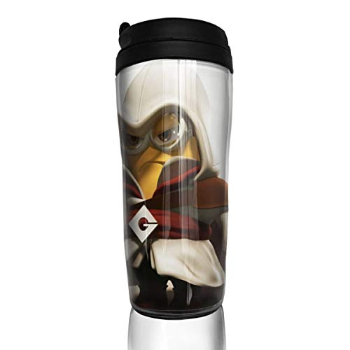 Assassin's Creed Kaffeebecher Wasserbecher Reisebecher wiederverwendbar auslaufsicher mit Deckel für 350 ml (Becherboden verdickt rutschfest)