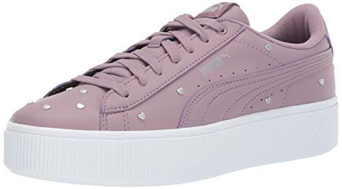PUMA Women's Vikky Stacked Sneaker, Elderberry-Elderberry, 7 M US