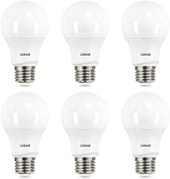 6-Pack Linkind 60W Dimmable A19 LED Light Bulbs