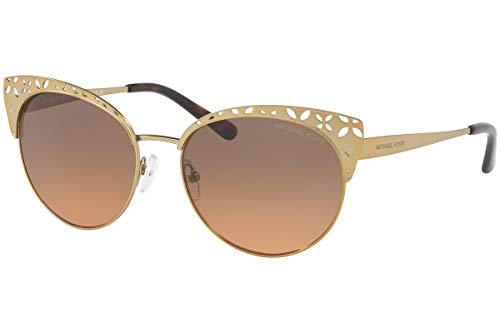 Michael Kors MK1023 Evy gafas de sol w/gris anaranjado de la pendiente de la lente de 56 mm MK 118 918 1023 mujer Oro pálido satinado Medio