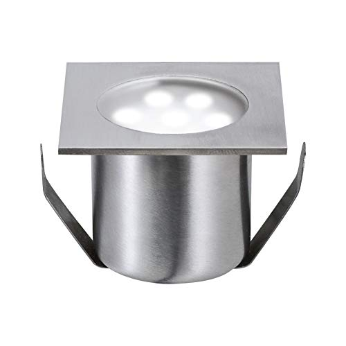 Paulmann 98870 Bodeneinbauleuchten-Basisset Special Line Einbaustrahler Mini LED Spot Edelstahl Eckig 4er Set 4x0,6W 230/12V 105 VA inkl. Leuchtmittel