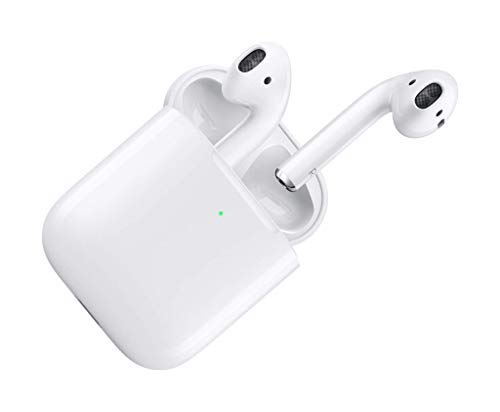 Apple AirPods 2 with Wireless Charging Case - White (Renewed)