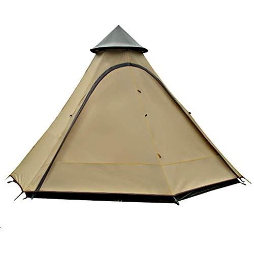 キャンプテント、4-6人の二重層ポーチと固定されたグラウンドシート、ピラミッドインドのテントとのテント