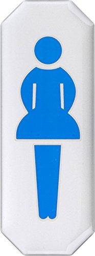 Metafranc Klebeschild Symbol: Damentoilette - 107 x 40 mm - 3D-Effekt / Beschilderung / Infoschild / Türschild / Gewerbekennzeichnung / Grundstückskennzeichnung / Orientierung / 506350