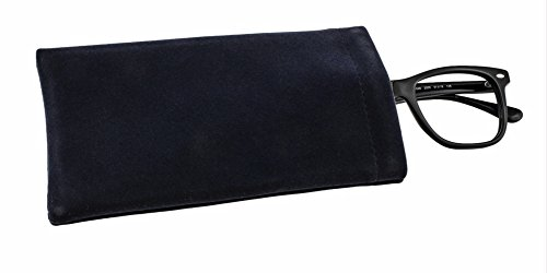 Soft Touch Spectacle CaseSpring Top Glasses Sleeve Black