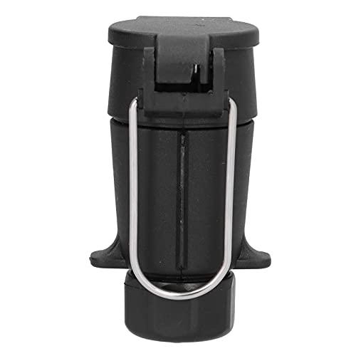 Jenngaoo Adaptador de Enchufe de Remolque de 7 Pines, Adaptador de Remolque Impermeable de 12V, Conector de Enchufe de Cableado De Caravanas para RV, Camión, Automóvil - Plug and Play