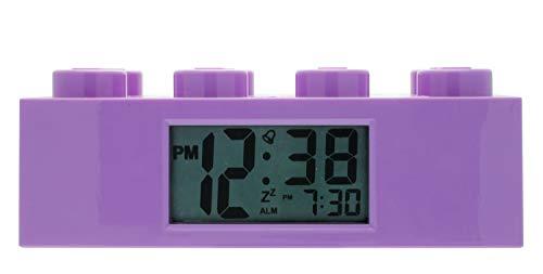 LEGO Friends 9009853 violetter Kinder-Wecker, violett, Kunststoff, 7 cm hoch, LCD-Display, Junge/Mädchen, offiziell