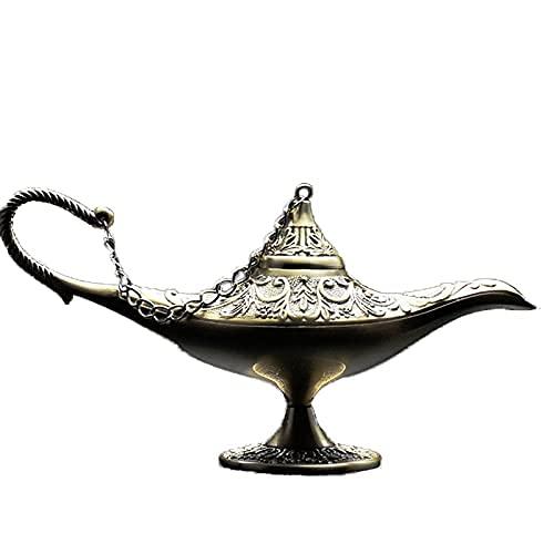 Adornos de Escultura HZYDD, lámpara mágica de Aladino, decoración Retro de Metal, decoración Creativa, Manualidades, Sala de Estar, Sala de Estudio, decoración del hogar (Color: B)