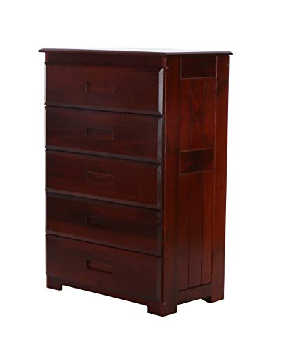 Discovery World Furniture 5 Drawer Chest, Merlot