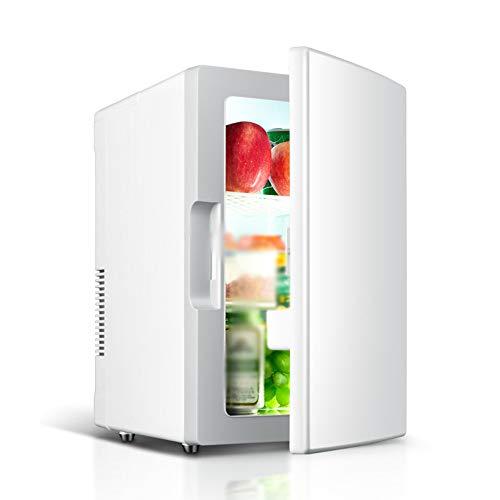 Frigorifero per Auto, 18l Mini Frigo Congelatore 12v / 220v Refrigeratore Elettrico Portatile E Incubatore, Adatto per Auto E Famiglie, Campeggio All'Aperto (Bianco)