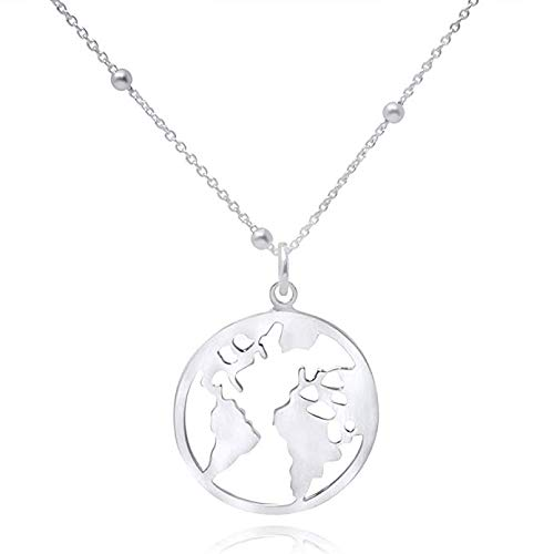 Bike Jewellry WANDA PLATA Bicycle Pendant Necklace for Women and Girls Sterling Silver 925