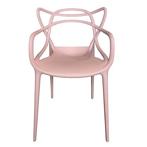 Sedia moderna Da pranzo Stile Moderno design intrecciata Comoda patica (Rosa perla, 4)