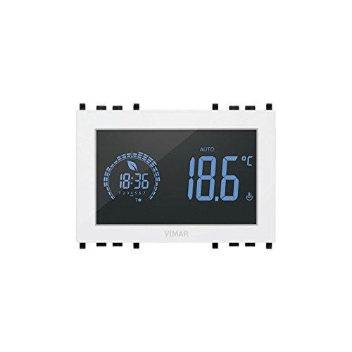 Cronotermostato touch bianco 3 mod. 120-230 V - 02955.B Vimar Rikon