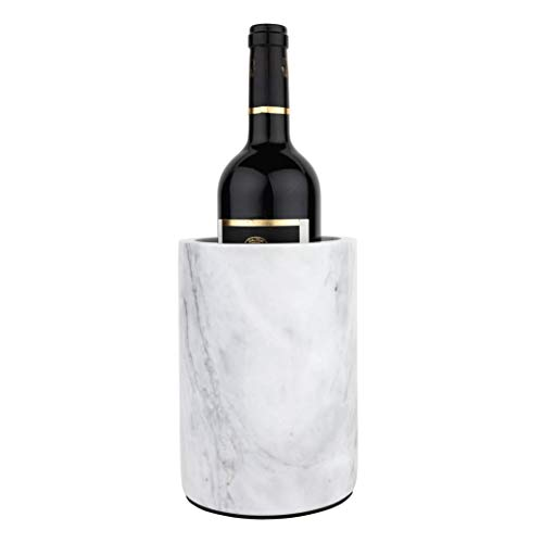 Homeries Marble Wine Chiller Bucket - Wine & Champagne Cooler for Parties, Dinner – Keep Wine & Beverages Cold – Holds Any 750ml Bottle - Ideal Gift for Wine Enthusiasts