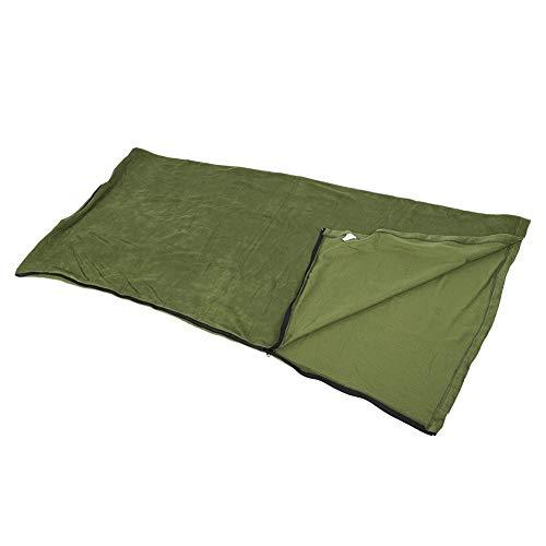 MAGT Polar Fleece Slaapzak, warme en knuffelige microvezel-fleece anti-pilling slaapzak met ritssluiting liner voor volwassenen en kinderen outdoor camping wandelen reizen (legergroen)