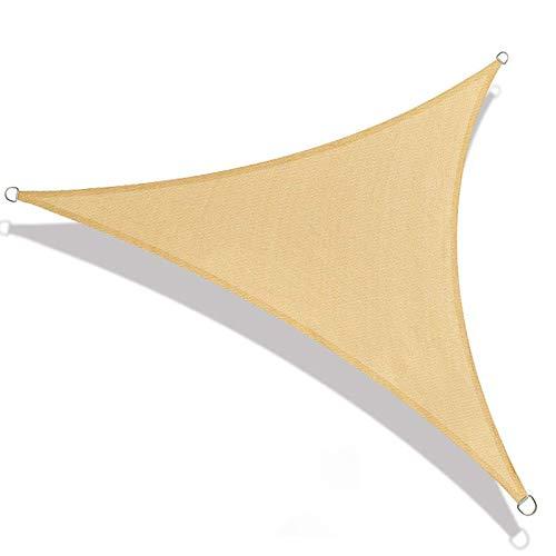 XFY Toldo Vela de Sombra, para sombrilla Carpa Triangular con Sombra en Tela Resistente 95% de Protección UV, para Terraza de Jardín con de Gancho D Cuerda