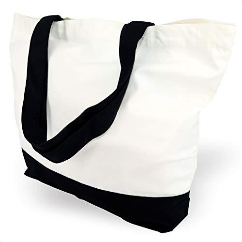 TOPDesign 3 | 6 | 12 Pack Super Robuste Große 12oz Baumwolcanvas Tragetasche, Wiederverwendbare Einkaufstasche für Lebensmittel, Stellen Sie ihren kreativen Entwurf auf der Tasche EIN (3er Pack)