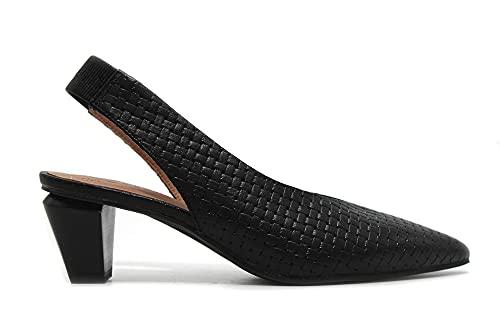 PEDRO MIRALLES - Zapato clásico Trenzado, salón Destalonado con Puntera Fina, tacón...