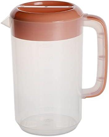 Material plástico Hervidores de agua fría Botella de agua fría con tapa Botellas de agua fría Botellas de agua doméstica con asa Jarras de jugo de 5 colores con tapa para nevera Plástico para