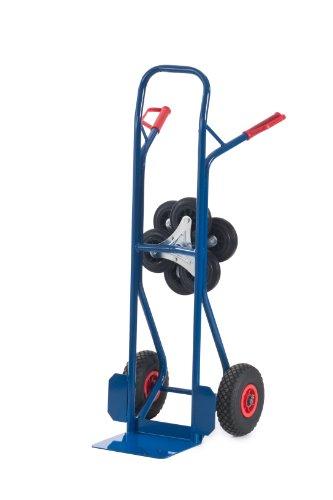Rollcart 20-9855 Treppenkarre Wechselräder, RAL5010 enzianblau