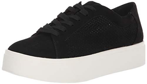 Dr. Scholl's Shoes Women's Kinney Lace Fashion Sneaker, Black Cool Microfiber, 10 M US