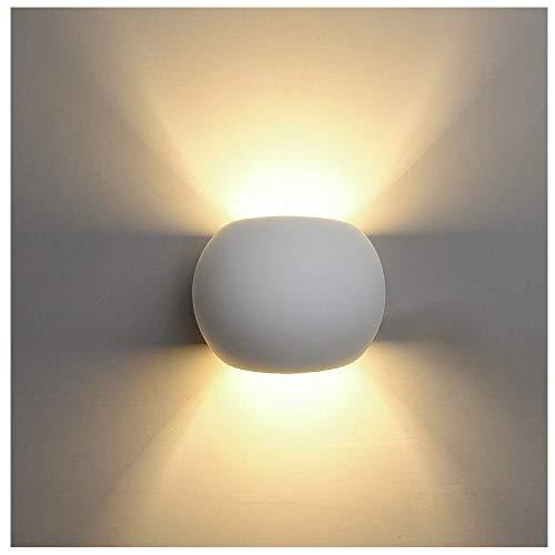 ZHANG wandlampen van gipskarton, eenvoudige witte lamp, met lichtbron van G9 plug-in G9, wandlamp binnen en buiten, voor slaapkamer, kinderen, nachtkastje, hal, hotel, restaurant, woonkamer