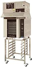 Moffat E32D5/OVH32/SK32 Turbofan Electric Full Size Convection Oven, With SK32 Stand, Ventless Hood & Digital Controls
