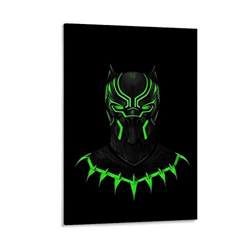 GDFG Pantera Negra Fondo De Pantalla Pantera Póster decorativo Cuadro Cuadro Cuadro Cuadro Cuadro Cuadro Cuadro Mural Salón Dormitorio Pintura 40 x 60 cm
