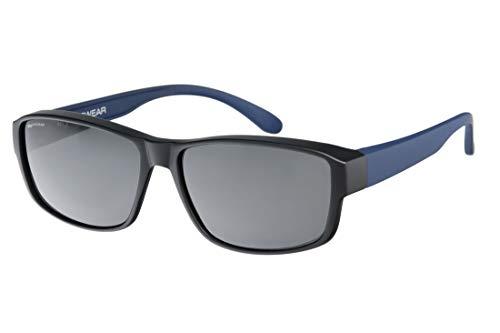 IKY Eyewear overzet zonnebril OB-0004C zwart/blauw solid