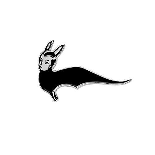 Black Dark Bat Animal Punk Pins Lederjacken Jeans Jeans Rucksack Tasche Zubehör Abzeichen Broschen Emaille Pins, Style4