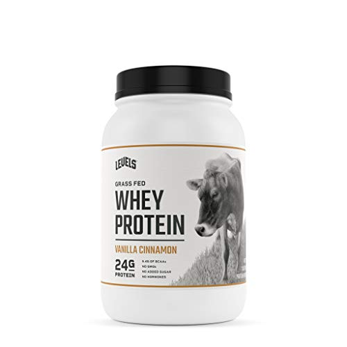 Levels Grass Fed 100% Whey Protein, No GMOs, Vanilla Cinnamon, 2LB Illinois