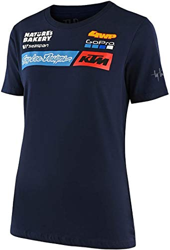 Troy Lee Designs Girls T-Shirt KTM Team Blau Gr. XL