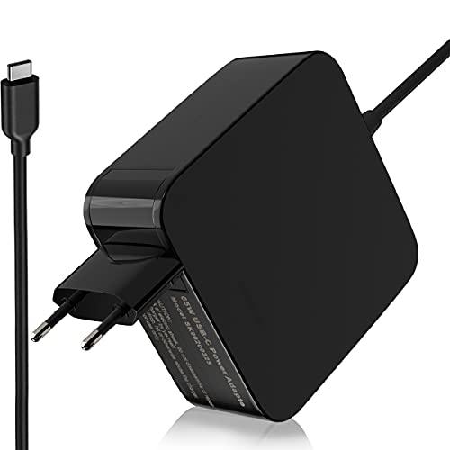 Cargador Adaptador USB C de 65W 45W Tipo C para HP Spectre x360 x2 13 HP Elite x2 1012 G1 M5 1013 G3 HP Envy x360 HP EliteBook 840 G1 820 G1 Series Cable de alimentación para computadora portátil