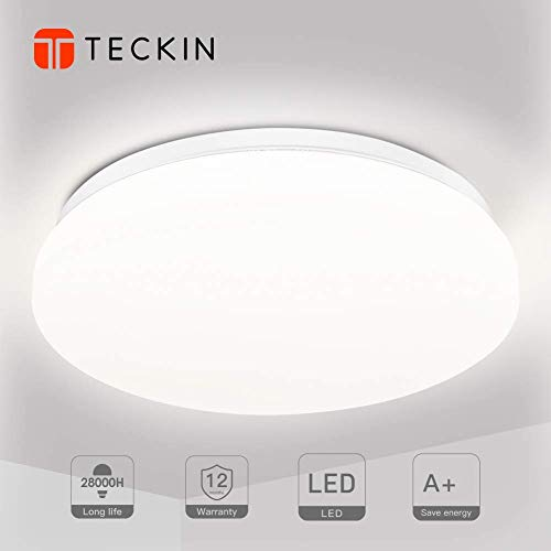 Plafon led de techo,lamparas de techo habitacion,TECKIN 18W Moderna LED Plafón para...