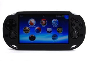 Nature Black silicone soft case cover plus 1 set of LCD screen protector for SONY Playstation PS VITA 1000 (PCH-1000)
