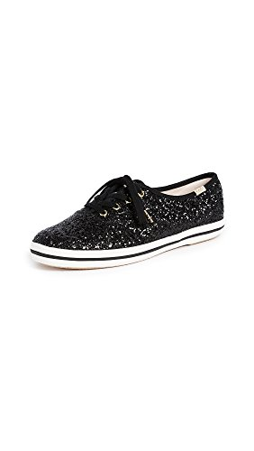 Keds womens Champion Kate Spade Glitter Sneaker, Black, 10.5 US