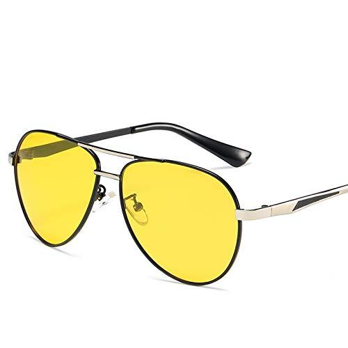 Glqwe Klassische Sonnenbrille, Retro polarisierte Nachtsicht Spiegel gespiegelter Laufwerke Extra-Sonnenbrillen for UV-Schutz (Color : F)