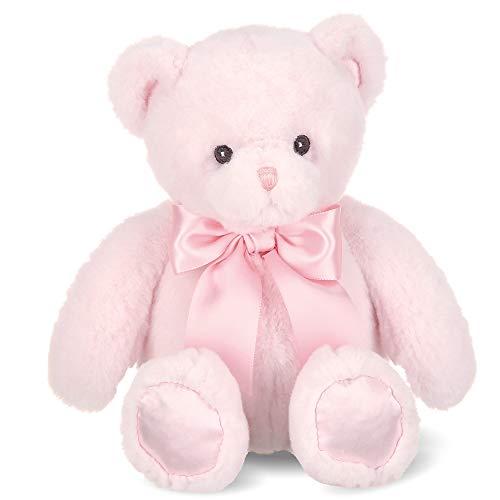 Bearington Baby Pink Plush Teddy Bear Stuffed Animal, 10 Inch