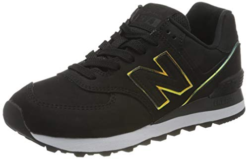 New Balance 574 WL574CLG Medium, Zapatillas Mujer, Black (Black CLG), 39 EU
