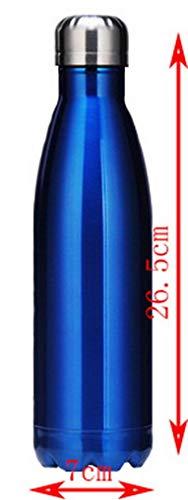 ZHFZD Sport vacuümfles, thermoskan van metaal, dubbelwandig, thermoskan gepersonaliseerd ZHFZD 500 Blauw