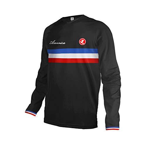 Uglyfrog Bike Wear Nationalflagge Streifen Designs Erwachsene Herren Downhill Trikot MX Jersey Lange Ärmel Spring Fahrrad Motocross Offroad T-Shirt