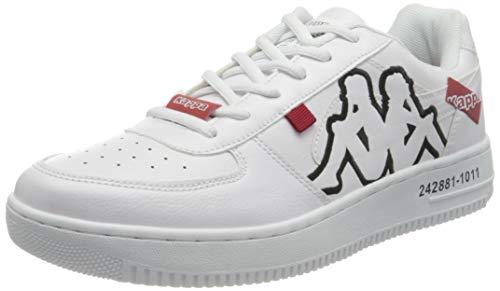 Kappa Unisex-Erwachsene Bash Ol Sneaker, 1011 White/Black,46 EU