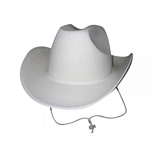 Party Pro 84302161Blanc Chapeau de cowboy, Mulit Couleur
