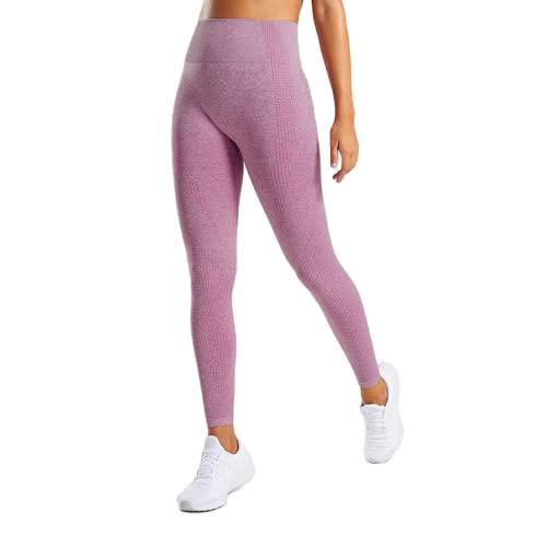 QTJY Pantalones de Yoga para Mujer, Cintura Alta, Push Up, Mallas Deportivas, Mallas de Entrenamiento para Correr, Fitness, Deportes, Pantalones de Control de Barriga FM